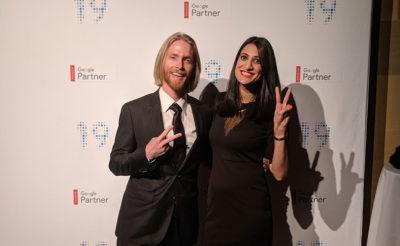 Carsen and Renu at the 2019 Google Premier Partner Gala