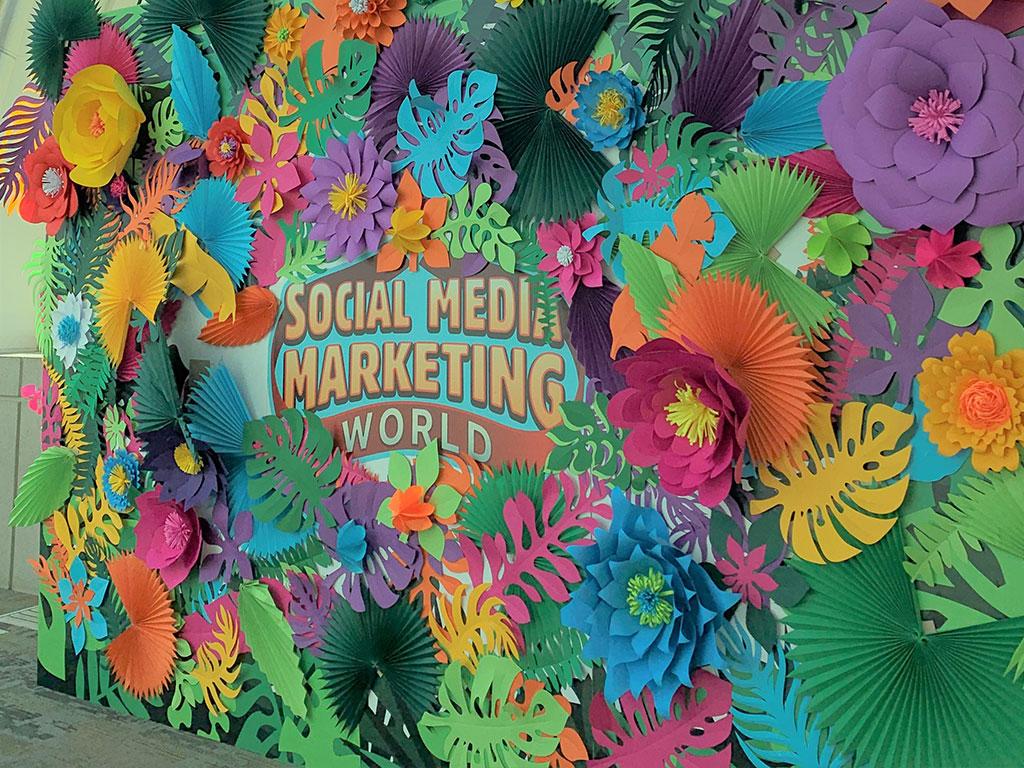 Social Media Marketing World Sign at Conference